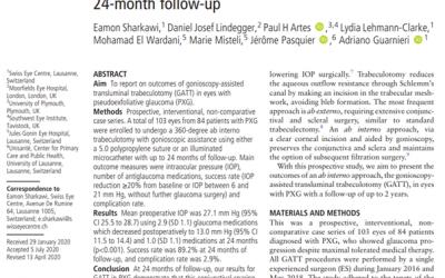 Résultats d'une Trabéculotomie Transluminale Assistée par Gonioscopie (GATT) chez des patients atteints de glaucome pseudo-exfoliatif (GPEX).